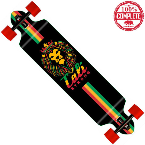"King Rasta Longboard Double Drop Through Complete 9"" x 41"" - Drop Through Longboard - CALI Strong"