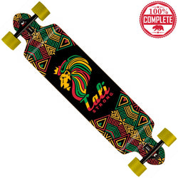 "Lord Rasta Longboard Double Drop Through Complete 9"" x 41"" - Double Drop Longboard - CALI Strong"