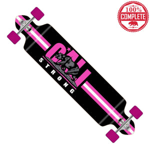 "CALI Strong Original Pink Longboard Double Drop Through Complete 9"" x 41"" - Double Drop Longboard - CALI Strong"