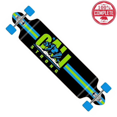 "CALI Strong Original Lime Longboard Double Drop Through Complete 9"" x 41"" - Double Drop Longboard - CALI Strong"