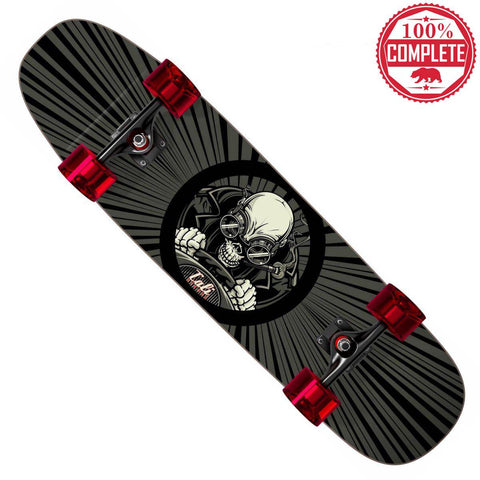 "Night Skull Skateboard Cruiser Complete 8.5"" x 32"" - Cruisers - CALI Strong"