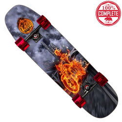 "Flame Rider Skateboard Cruiser Complete 8.5"" x 32"""