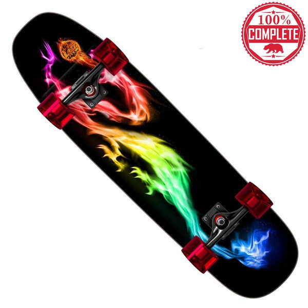 "Flame Dragon Skateboard Cruiser Complete 8.5"" x 32"" - Cruisers - CALI Strong"
