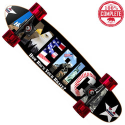 "How Big's Your Brave AMERICA Cruiser Throwback Complete 7"" x 28"" - Banana Boards - CALI Strong"