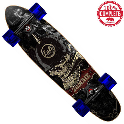"Zombie Skull Mini Cruiser Throwback Complete 7"" x 28"" - Banana Boards - CALI Strong"
