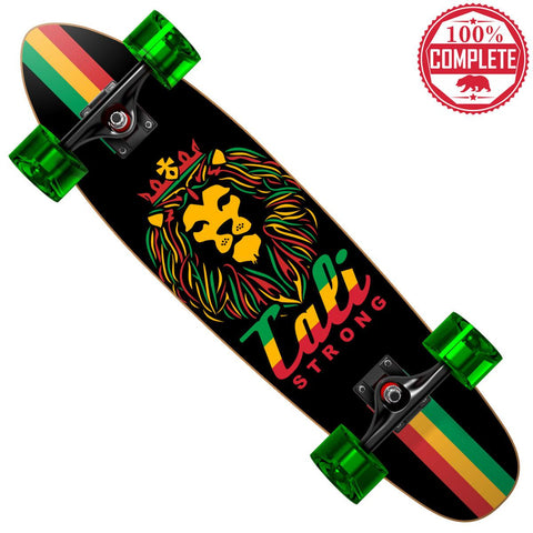"King Rasta Mini Cruiser Throwback Complete 7"" x 28"" - Mini Cruiser Throwback - CALI Strong"