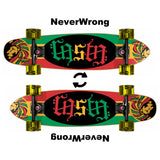 "Word Ambigram Rasta Mini Cruiser Throwback Complete 7"" x 28"" - Mini Cruiser Throwback - CALI Strong"