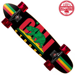 "CALI Strong Rasta Mini Cruiser Throwback Complete 7"" x 28"" - Mini Cruiser Throwback - CALI Strong"