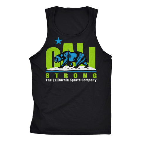 CALI Strong Original Lime Black Tank Top - Apparel - CALI Strong