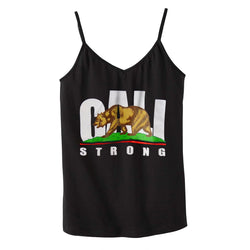 CALI Strong Black Shelf Bra Tank Top - Tank Top - CALI Strong
