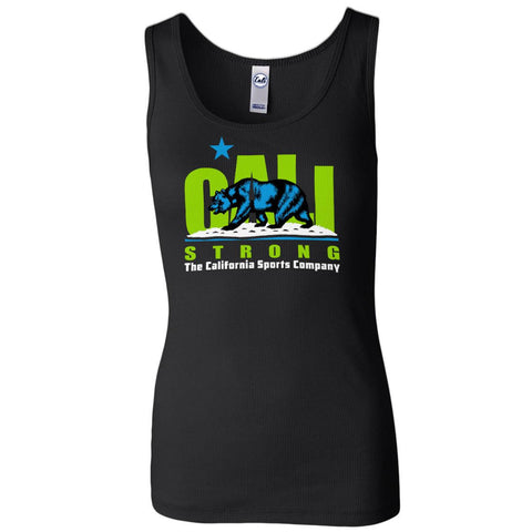 CALI Strong Lime Women's 2x1 Rib Tank Top - Tank Top - CALI Strong
