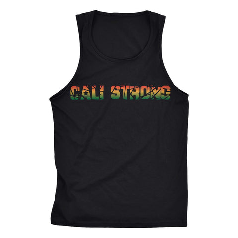 CALI Strong Stamp Rasta Tank Top - Tank Top - CALI Strong