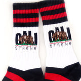 CALI Strong Red Black Crew Socks - Socks - CALI Strong