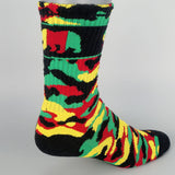 CALI Strong Rasta Camo Crew Socks - Socks - CALI Strong