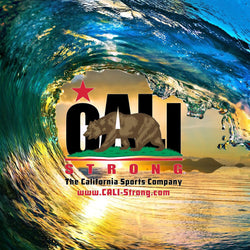 CALI Strong Wave Sticker 4 inch Square Vinyl Decal