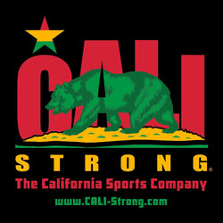 CALI Strong Rasta Sticker 4 inch Square Vinyl Decal