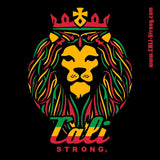King Rasta Sticker 4 inch Square Vinyl Decal - Stickers - CALI Strong