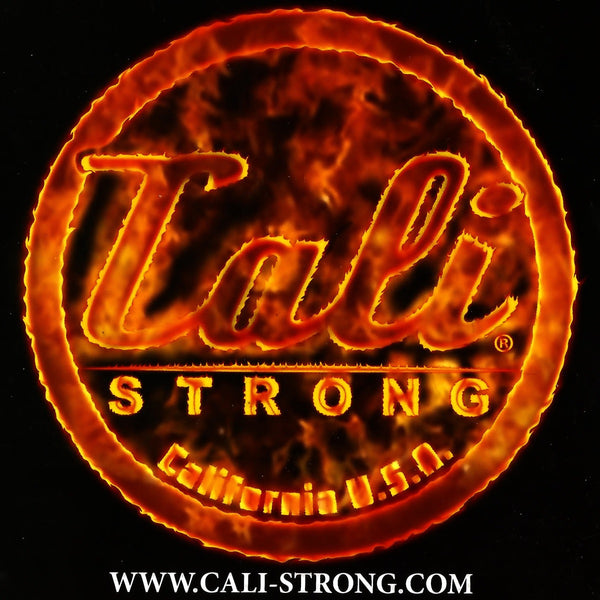 CALI Strong Flame Sticker 4 inch Square Vinyl Decal - Stickers - CALI Strong