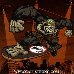 Gorilla CALI Strong Sticker 4 inch Square Vinyl Decal