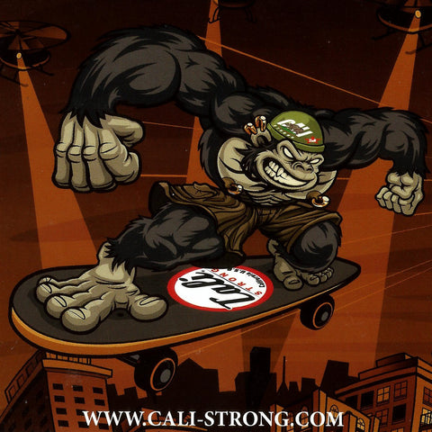 Gorilla CALI Strong Sticker 4 inch Square Vinyl Decal - Stickers - CALI Strong