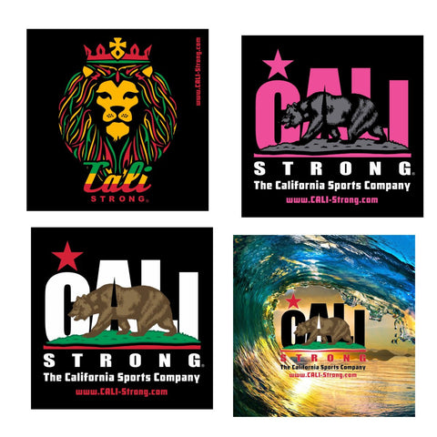 CALI Strong Sticker 4 Pack Series 1B Vinyl Decal Set - Stickers - CALI Strong