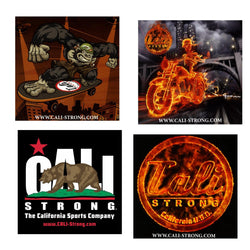 CALI Strong Sticker 4 Pack Series 1C Vinyl Decal Set