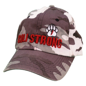 CALI Strong Bear Claw Curved Brim Winter Camo - Headwear - CALI Strong