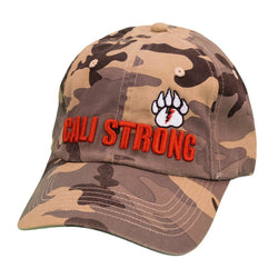 CALI Strong Bear Claw Curved Brim Tan Camo