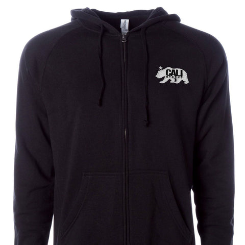 CALI Strong West Coast Zip Hoodie Black - Zip Hoodie - CALI Strong