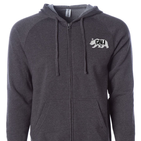 CALI Strong West Coast Zip Hoodie Carbon - Zip Hoodie - CALI Strong