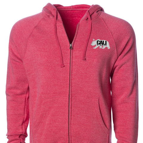 CALI Strong West Coast Zip Hoodie Red - Zip Hoodie - CALI Strong