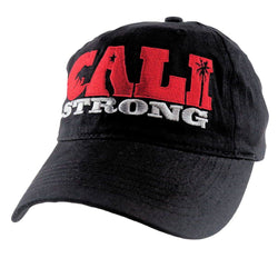 CALI Strong State Red Black Petite Women's Cap - Headwear - CALI Strong