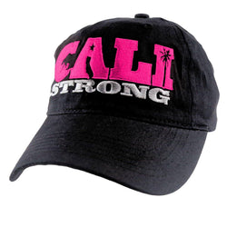 CALI Strong State Pink Black Petite Women's Cap - Headwear - CALI Strong
