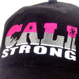 CALI Strong State Pink Stripe Petite Women's Cap - Headwear - CALI Strong