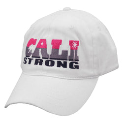 CALI Strong State White Petite Women's Cap