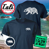 CALI Strong Word Bear Deluxe Glow In The Dark T-shirt Navy - T-Shirt - CALI Strong