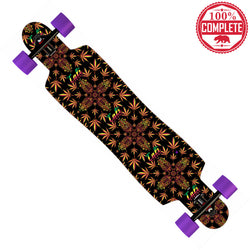 "CALI Dream Rasta Longboard Drop Through Complete 9.5"" x 42.75"" - Drop Through Longboard - CALI Strong"