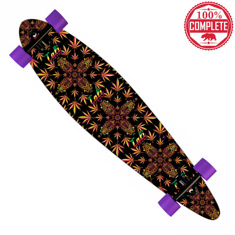 "CALI Dream Rasta Longboard Pintail Complete 9.25"" x 39.25"" - Pintail Longboard - CALI Strong"