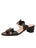 Womens Black Palm Beach Python Scalloped Sandal