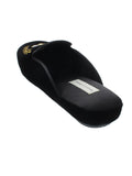 Womens Black Beatrice Crest Slipper 4