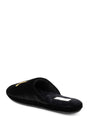 Womens Black Glam Embroidered Slipper 2