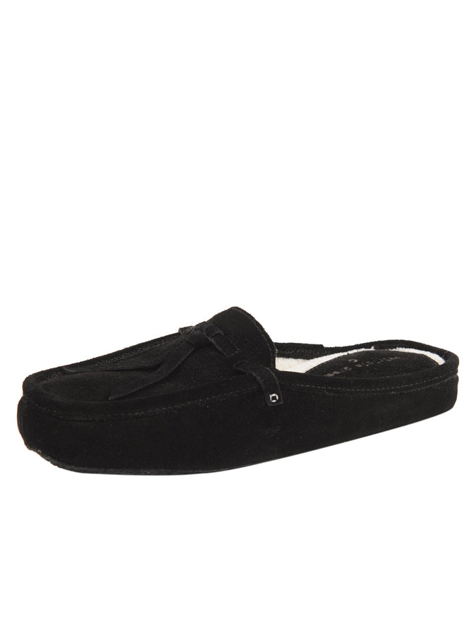 Womens Black Greenwich Suede Slipper