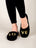 Womens Black Love Embroidered Slipper 4 Alternate View