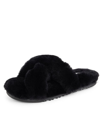 Womens Black Mt. Hood Shearling Slipper