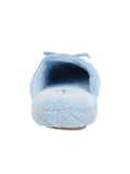 Womens Blue Chloe Microterry Slipper 7