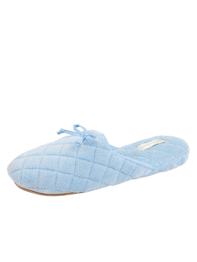 Womens Blue Chloe Microterry Slipper