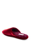 Womens Burgundy Glam Embroidered Slipper 2