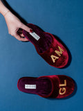 Womens Burgundy Glam Embroidered Slipper 5