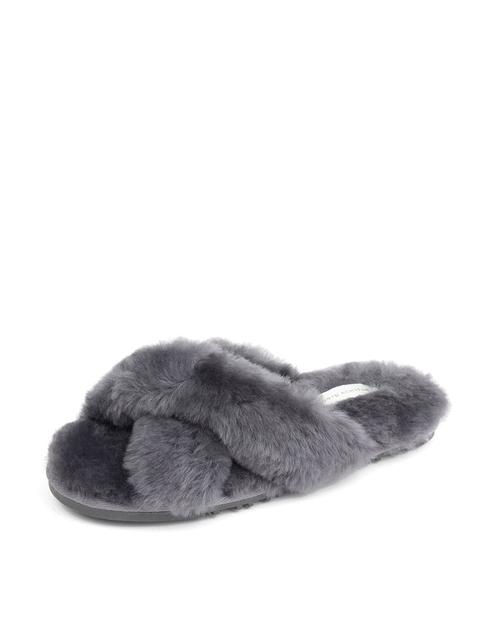 Womens Charcoal Mt. Hood Shearling Slipper