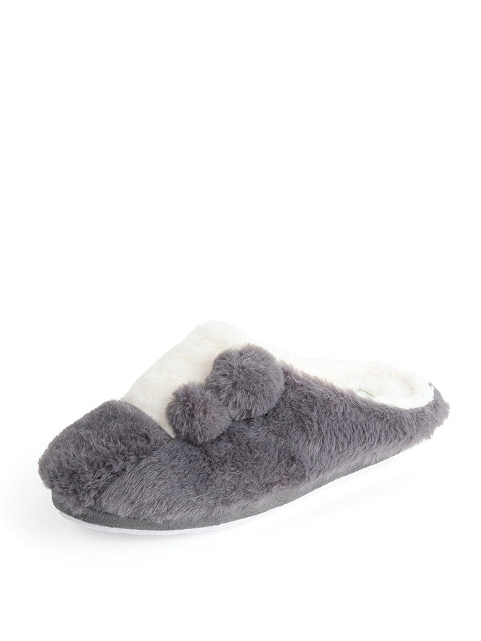 Womens Grey and White Patches Slipper